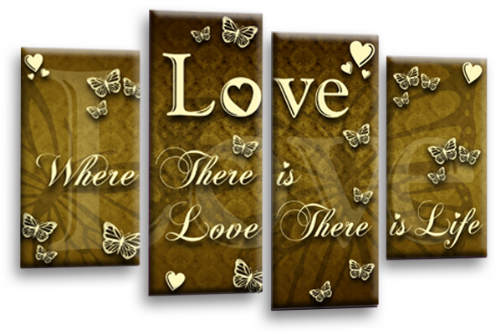 Love Quote Wall Art Print Brown Cream Family Picture